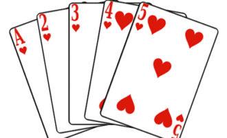 Комбинация Стрит Флеш в покере