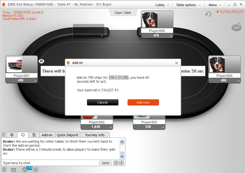аддон в покере