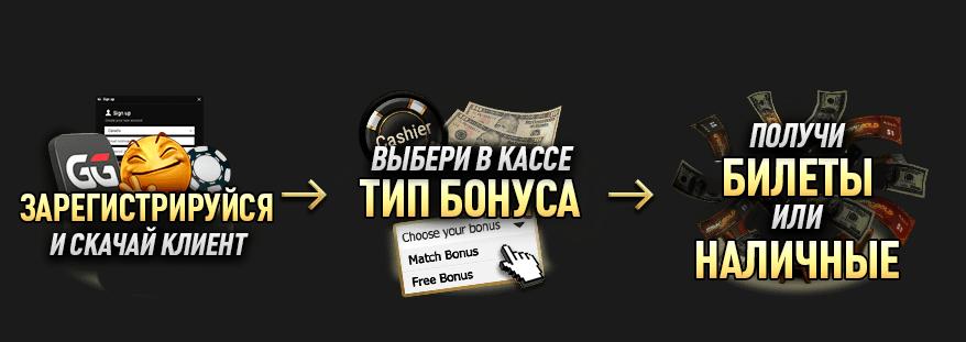 Бонус на первый депозит в GGPokerOK